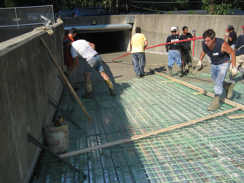 Parking garage plaza deck waterproofing serving long for Balcony repairs